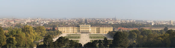 Castle Schönbrunn, Vienna. Panoramic picture castle Schönbrunn, Vienna Royalty Free Stock Images