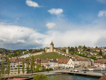 Castle of Schaffhausen in Switzerland Stock Images