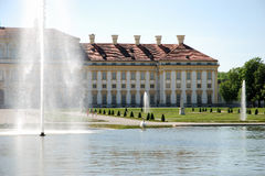 Castle Schlei�heim-gardenside Stock Images