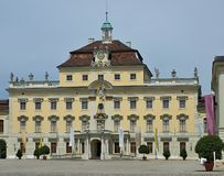Castle of Schloss Ludwigsburg in Stuttgart in Germany royalty free stock photo