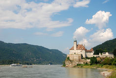 Castle Schonbuhel on Danube river. Danube valley(Wachau) is top locality for biking.(Austria,Europe Stock Images