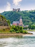 Castle Schonburg on the Rhine Royalty Free Stock Image