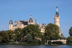 Castle Schwerin. The castle is laying on an isle of the lake schwerin, which surrounds the park and the city of schwerin Royalty Free Stock Photo