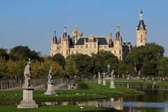 Castle Schwerin. The castle is laying on an isle of the lake schwerin, which surrounds the park and the city of schwerin Royalty Free Stock Images