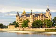 Schwerin Castle. Castle at Schwerin, Mecklenburg-West Pomerania, seat of the Landtag Royalty Free Stock Photo