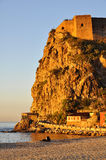 Castle of Scilla, Reggio Calabria. Castle of Scilla (ReggioCalabria), caressed by the lights of the sunset Stock Photography