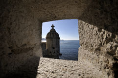 Castle by sea Royalty Free Stock Photo