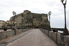 Castle on the sea in Naples Stock Photo
