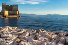 Castle on the sea, Naples, Italy Royalty Free Stock Images