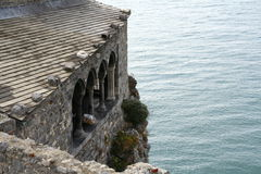 Castle by the sea. In Portovenere Stock Photography