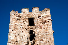 The castle in the seaside Chalkidiki Royalty Free Stock Photo