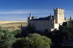 Castle in Segovia. Alcazar in Segovia from the hill Stock Image