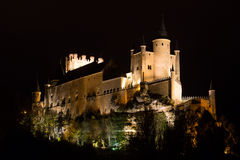 Castle of Segovia in midnight Stock Photography