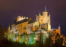 Castle of Segovia in  night Royalty Free Stock Photo