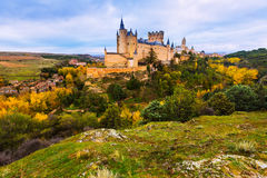 Castle of Segovia  in november day Royalty Free Stock Image