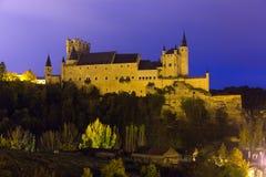 Castle of Segovia in november  evening. Stock Photo