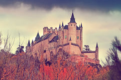 Castle of Segovia in november Royalty Free Stock Images