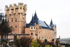 Castle Segovia Spain Stock Images