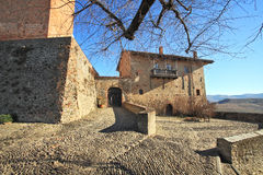 Castle of Serralunga D'Alba.Northern Italy. Stock Images