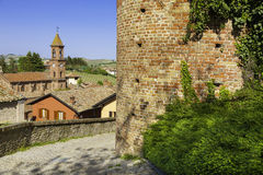 Castle Serralunga d'Alba, Piedmont, Italy Royalty Free Stock Photography