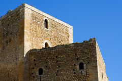 Castle of Serravalle. Very old medieval castle in Mineo country - Catania - Sicily - Italy Stock Image