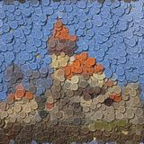 Castle sewing buttons image generated background Stock Photos