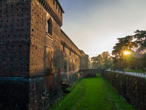Castle of Sforza in Milan Royalty Free Stock Photography