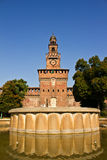 Castle Sforzesco. Front view of the castello sforzesco located in Milan Royalty Free Stock Photography