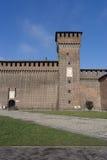 Castle Sforzesco courtyard Stock Photos