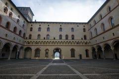 Castle Sforzesco courtyard Royalty Free Stock Photos