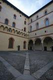 Castle Sforzesco courtyard Stock Image