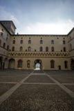 Castle Sforzesco courtyard Stock Photo