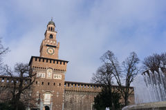 Castle Sforzesco tower Royalty Free Stock Image