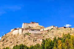 Castle in Shigatse, Tibet Royalty Free Stock Image