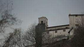The castle. Shooting of a castle in Italy stock footage