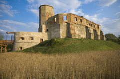 Castle in Siewierz, Poland royalty free stock photography