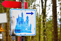 Castle sign Royalty Free Stock Photos