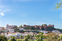 Castle in Silves, old Moorish capital of Portugal. Royalty Free Stock Photography