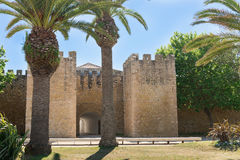 Castle in Silves, old Moorish capital of Portugal. Algarve, Port Royalty Free Stock Image