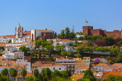 Castle in Silves town - Algarve Portugal Stock Image