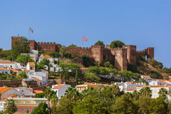 Castle in Silves town - Algarve Portugal Royalty Free Stock Images