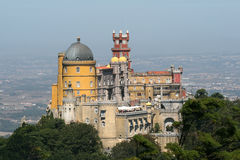 Castle of Sintra. From a distance royalty free stock photo