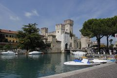 Castle Sirmione in Italy Stock Photo