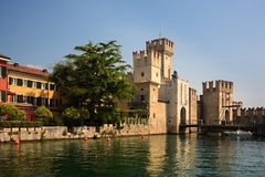 Castle in Sirmione Stock Images