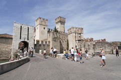 The castle of Sirmione on Lake Garda Royalty Free Stock Photos
