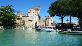 Castle Sirmione Lake Garda Italy Royalty Free Stock Photo