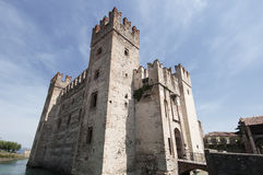 The castle of Sirmione on Lake Garda Royalty Free Stock Image
