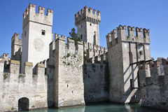 The castle of Sirmione on Lake Garda Royalty Free Stock Photo