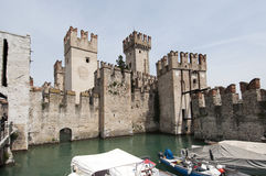 The castle of Sirmione on Lake Garda Stock Photography