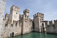 The castle of Sirmione on Lake Garda Royalty Free Stock Images
